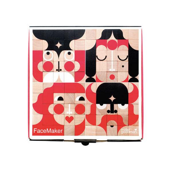 木製キューブブロック facemaker mini フェイスメーカー ミニ 送料
